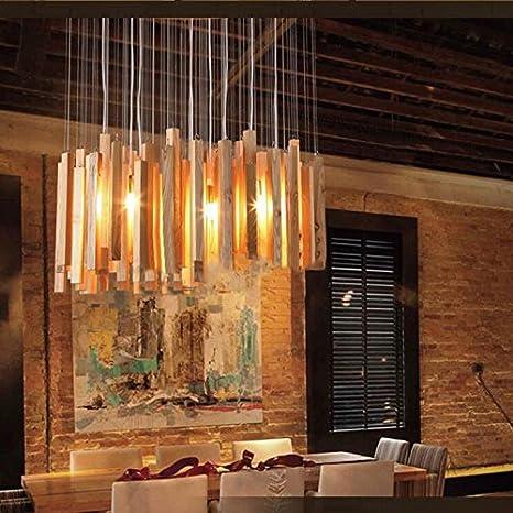 Lámpara,Lucernas de madera araña arte diseño personalidad ...