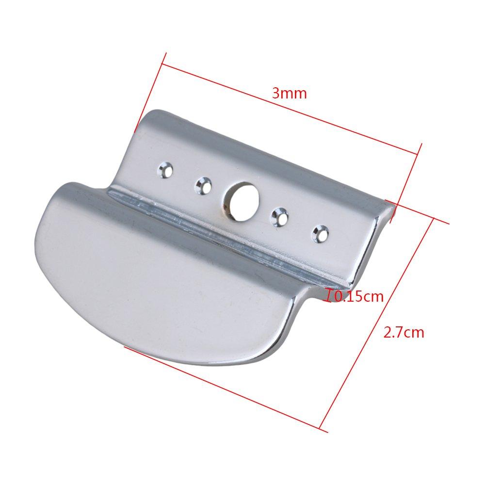 Yibuy 31 x 29 x 1.5 mm Silver Zinc Alloy 4 String Banjo Tailpiece para reemplazo de piezas de guitarra