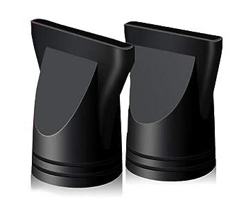 2PCS Plastic Salon Hair Dryer Nozzle Replacement Narrow Concentrator Replacement Blow Flat Hair Drying Nozzle Black