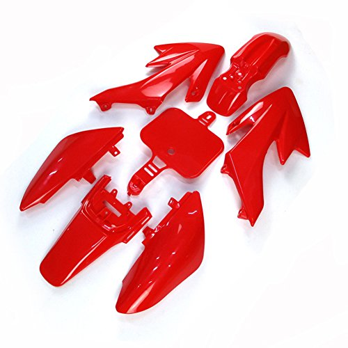 TC-Motor Red Plastic Fender Fairing Kit Kits For Honda XR CRF XR50 CRF50 50 50cc 70cc 90cc 110cc 125cc 140cc 150cc 160cc Dirt Pit Bike Piranha SSR Thumpsta Stomp Coolster Pitsterpro Braaap SDG GPX DHZ