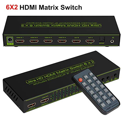 6x2 HDMI Matrix Switch