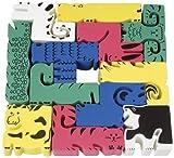 Chenille Kraft Wonderfoam Animal Cube Puzzle, 12-Piece