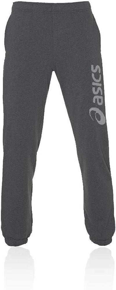 ASICS Big Logo Sweat Pant Pantalón, Hombre, Phantom Heather/Carbon ...