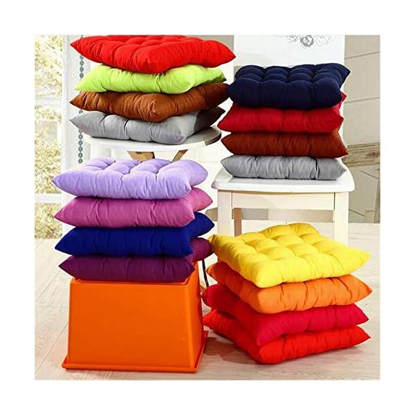 AGDLLYD Cuscini di Seduta Cuscino Sedia 40x40x5cm per Interno ed Esterno - Molti Colori - Imbottitura Spessa Cuscino… 3 spesavip