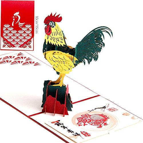 paper-spiritz-king-of-the-rooster-3d-pop-up-post-card-handmade-kit-postcard-matching-envelope-laser-
