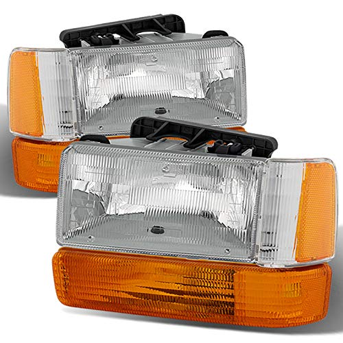 Xtune for 1991-1996 Dodge Dakota Clear Headlights + Corner Lights Assembly Direct Fit LH+RH Set 1992 1993 1994 1995