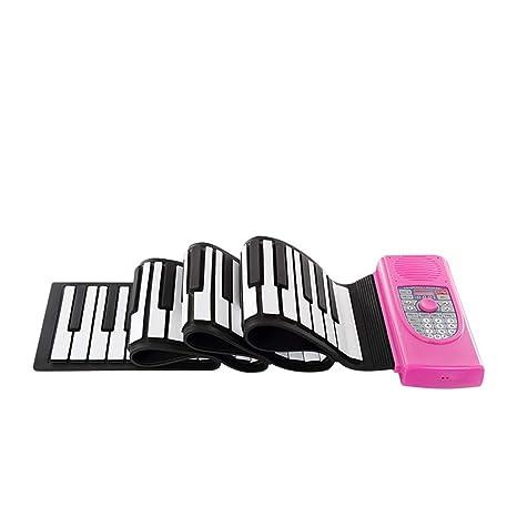Piano portátil Bluetooth Plegable 88 Teclas Flexible Silicio Suave Eléctrico Teclado enrollable digital Piano con salida