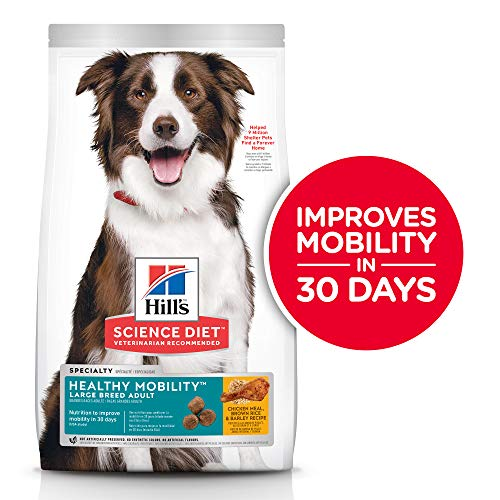 Hill's Science Diet Dry Dog Food, Adult, Large Breed, Healthy Mobility for Joint Health, Chicken Meal, Brown Rice & Barley Recipe, 30 lb Bag (The Best Healthy Diet)