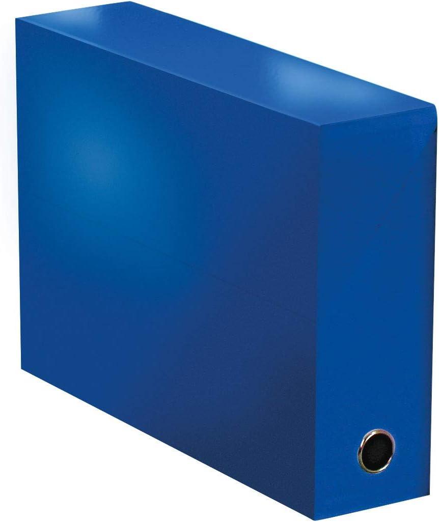 Elba 400080239 color life – Caja de transferencia ancho 9 cm 34 x 25,5 cm Plastificado, color azul oscuro: Amazon.es: Oficina y papelería