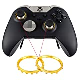 4 Pairs Unique Designed Individualized Custom Chrome Metal Circle Ring Of Thumbsticks For Xbox One Elite Controller