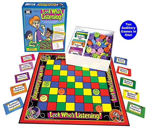 Super Duper Publications Look Who's Listening Auditory Memory Board Game (New Smaller Packaging) Educational Learning Resource for Children