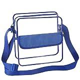 BAGAIL Clear Crossbody Bag Stadium NFL &PGA Approved 3 Sizes Cross-Body Shoulder Messenger Bag with Adjustable Strap (Royal Blue,8x8x3 inch)