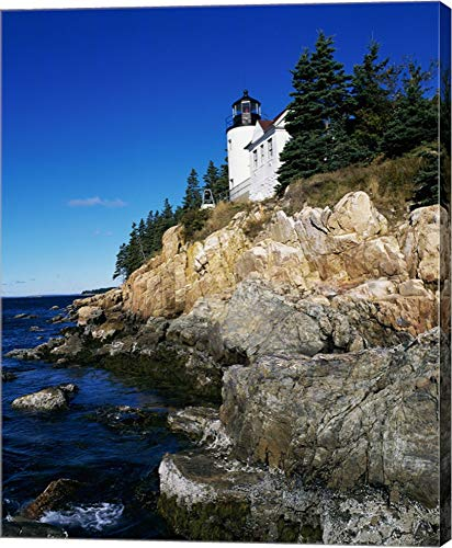 Bass Harbor Head Lighthouse Mount Desert Island Maine USA Canvas Art Wall Picture, Gallery Wrap, 16 x 19 inches