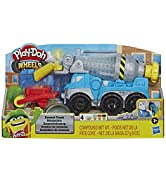 Play-Doh Wheels Cement Truck Toy for Kids Ages 3 & Up with Non-Toxic Cement-Colored Buildin' Comp...