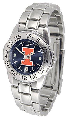 Illinois Fighting Illini Sport Steel AnoChrome Women's Watch (Steel Watch Anochrome)