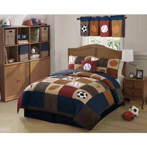 Classic Sports Quilt Set (Twin) by My World