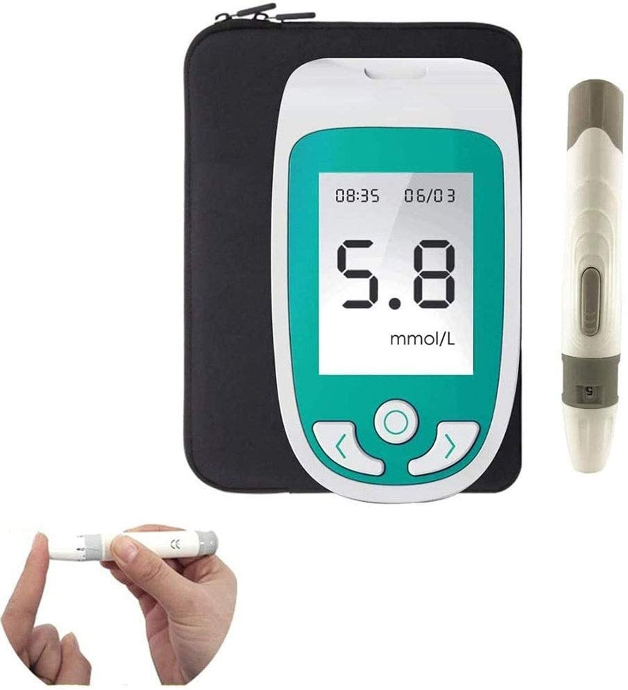 Cholesterol Test Kit for Home, 3 in 1 Multi-Function Cholesterol,Blood Sugar,Uric Acid Test Meter,with Large LCD Screen Test Strip Analyze for Health Home Tests (Color : Cholesterol Test Instrument)