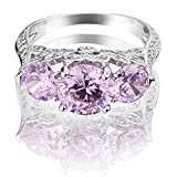 Queenwish-Created-Pink-Sapphire-Engagement-Rings-in-Rhodium-plated-Nickel-Finish-Jewelry-Size-5-9