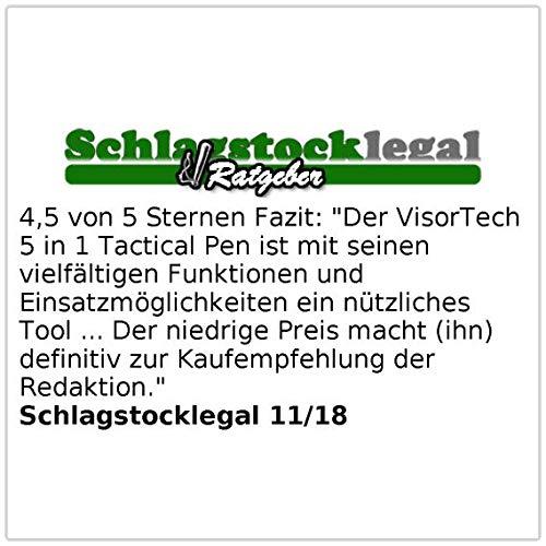 VisorTech Stift: 5in1-Tactical Pen mit Kugelschreiber LED Kugelschreiber mit Messer Glasbrecher /& Brief/öffner