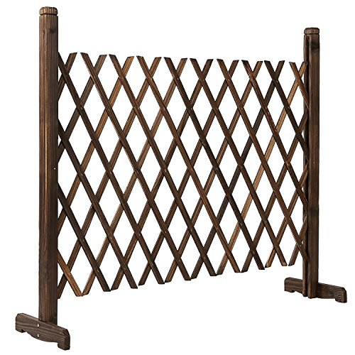 Event Fence (Freestanding Expandable Wood Trellis Fence, Outdoor Garden Screen, 34 Inch)