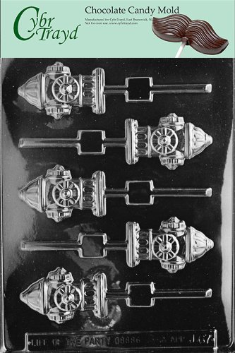 (Cybrtrayd Life of the Party J067 Fire Hydrant Lolly Chocolate Candy Mold in Sealed Protective Poly Bag Imprinted with Copyrighted Cybrtrayd Molding Instructions)