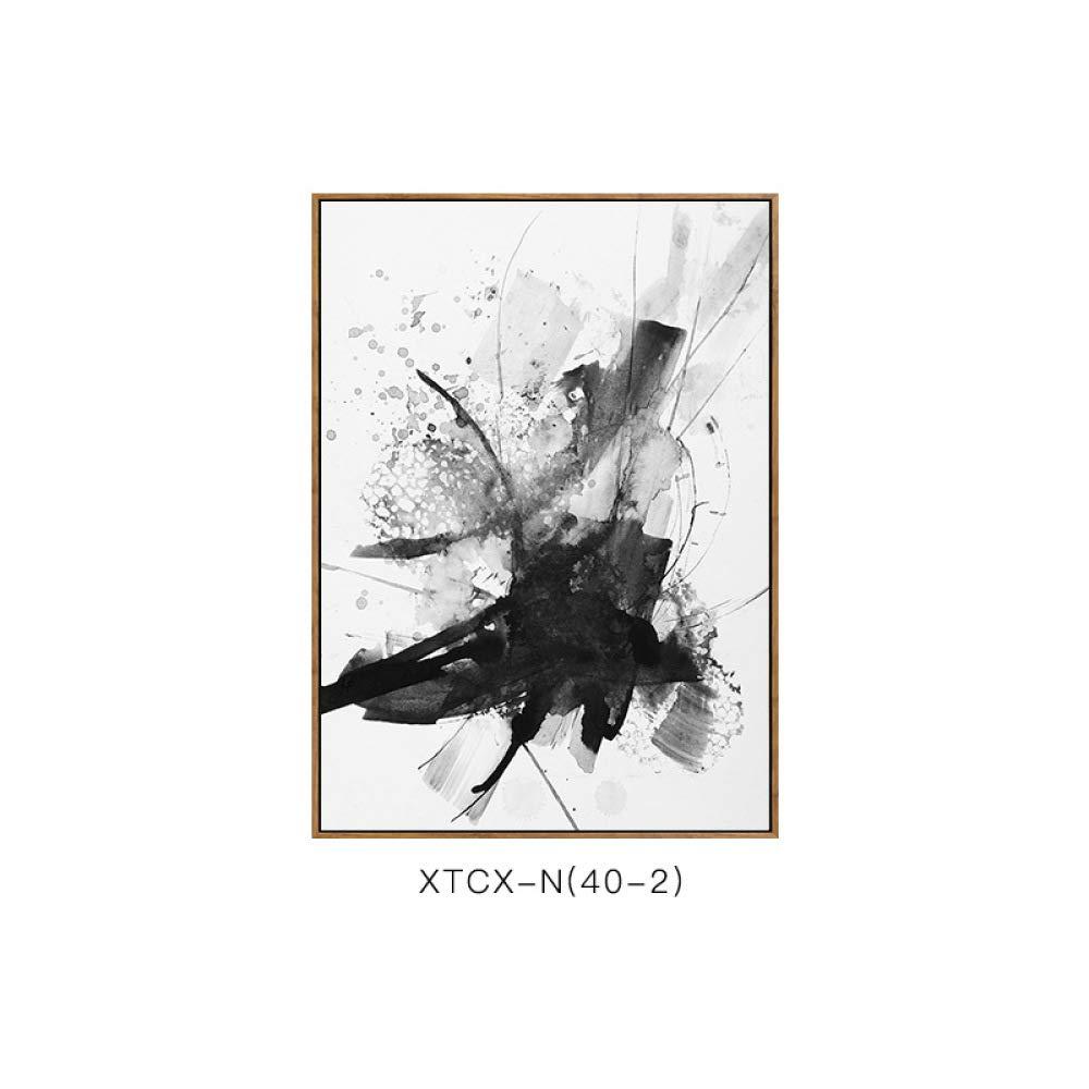 Barato CWJ Pintura Abstracta de la Tinta, Pintura Decorativa Moderna del Modelo Abstracto Minimalista, Pintura Decorativa del Dormitorio de la Sala de Estar Creativa y Elegante del Estilo,E,60  80