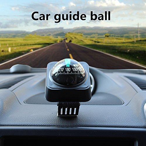 Silence-Shopping Fahrzeug-Schwimmkugel Magnetische Navigation Kompass 35 * 25 * 25 mm (schwarz & Weiß)