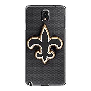 AlissaDubois Samsung Galaxy Note 3 Shock Absorbent Hard Cell-phone Case Support Personal Customs Beautiful New Orleans Saints Skin [wsx8027yPxn]