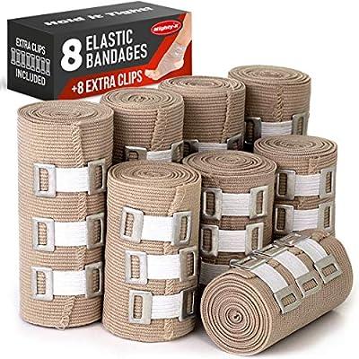 Amazon Com Premium Elastic Bandage Wrap 8 Pack 8 Extra Clips