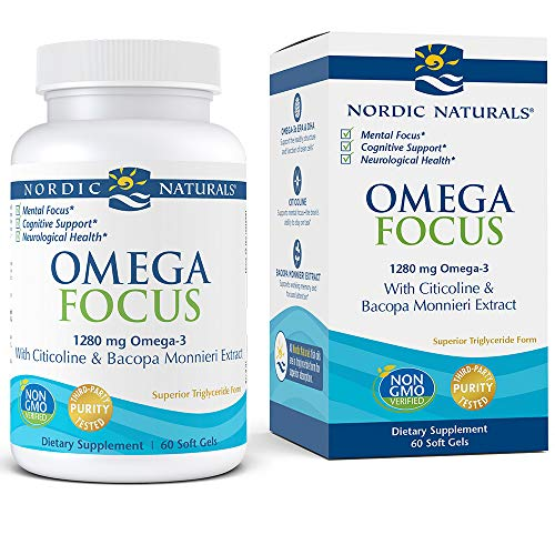 Nordic Naturals Omega Focus Cognitive Support - High Quality Omega-3s and Key Nutrients Help Optimize Neurological Health and Support Mental Focus*, 60 Soft Gels