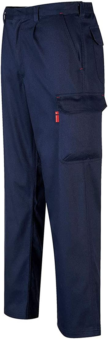 Portwest BZ31 Mens Safety Work Cargo Pants in Flame Resistant Bizweld ASTM NFPA