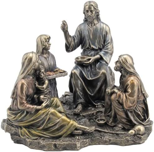 9.25 The Miracle of The Five Loaves Two Fish Statue Figurine Jesus Christ