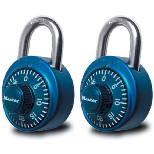 Master Lock 1530T Combination Padlock 2 Pack Assorted Colors
