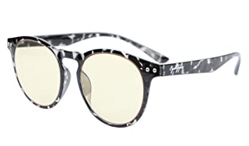 02cbf49976 Eyekepper Retro Vintage Flex Lightweight Plastic Round Frame Computer Glasses  Readers Eyeglasses (Grey Tortoise Shell
