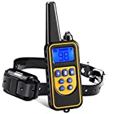 Dog Training Collar, 880 Yards Small Medium Large Pet Training Dog Collars with Remote, Waterproof Rechargeable with Beep/Vibration/Electric Shock Bark Collar [2020 Upgraded Version]
