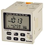 AUTONICS LE365S-41 Timer, Yearly, 1/16 DIN, LCD, 3 operation mode, Week 48 Steps / Year 24 steps, 1 SPST Outputs, 100-240 VAC