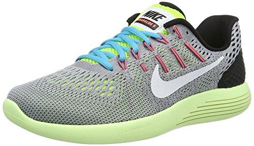 Nike Mens Lunarglide 8 Running Shoes, Wolf Grey/White/Volt/Gamma Blue, 44 D(M) EU/9 D(M) UK