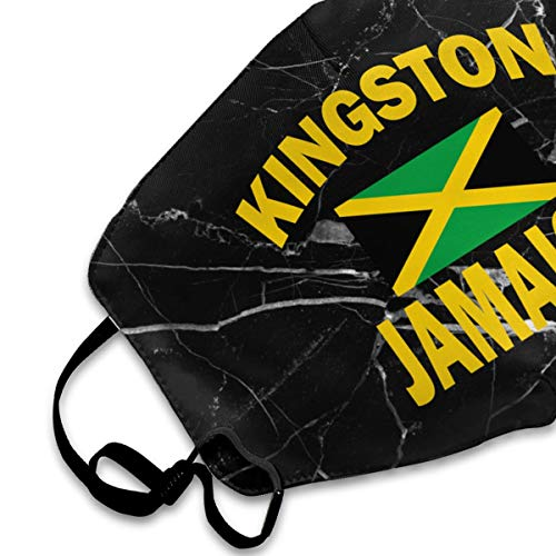 Kingston Jamaica Flag Men/Women Anti Dust Face Mouth Mask for Motorcycle Riding | Reusable Anti-Dust Mouth Mask White