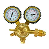 """YaeTek Nitrogen Regulator with Pressure Gauge CGA580 Inlet Connection and 1/4-Inch Male Flare Outlet Fitting 0-800 PSI 2"""""""