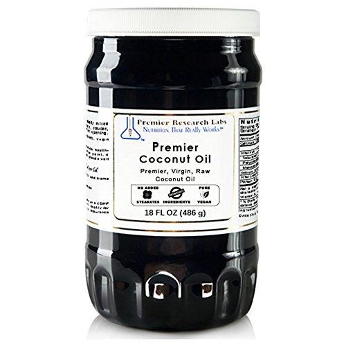 PREMIER RESEARCH LABS Coconut Oil - Premier, Virgin & Organic Coconut Oil (18 Ounce - 486 Milliliter)