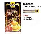 15x Ganocafe 3 in 1 Ganoderma Healthy Latte Coffee FREE Zrii Rise Coffee