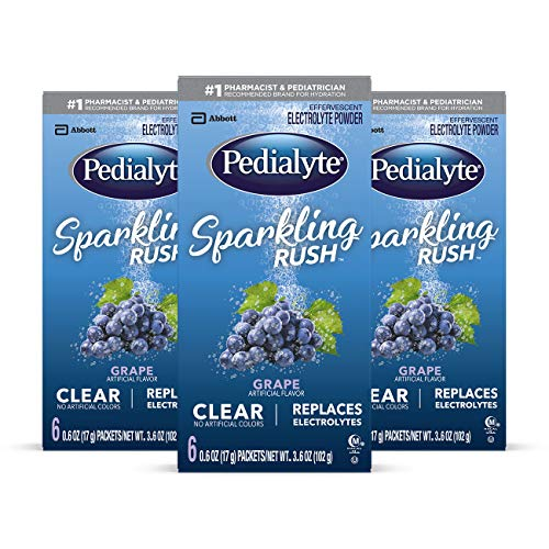 Pedialyte Sparkling Rush Electrolyte Powder Drink 18-Count Only $5.04 (Was $31.47)