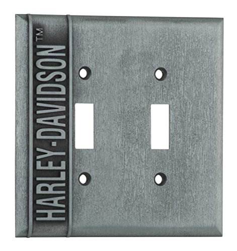 Harley-Davidson Heavy-Duty H-D Double Switch Plate, Hardware Included HDL-10170