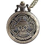 VIGOROSO One Piece Vintage Antique Bronze Steampunk Quartz Pocket Watch Necklace Pendant Gift Box