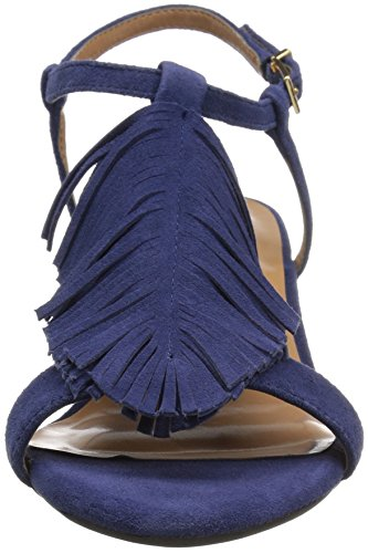 Aerosoles Donna Sciarada Sandalo Blu Pelle Scamosciata