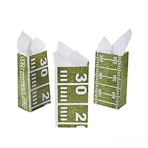 Football Field Treat Bags (One Dozen)Party Supplies/Tailgating/TreatBags/Party favors (Tailgating Decorations)