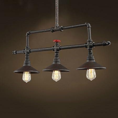 WSHceilinglamp Industrial 3 Cabezas Estilo lámpara Colgante ...