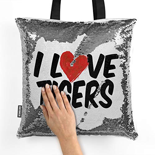 NEONBLOND Mermaid Tote Handbag I Love Tigers Reversible Sequin