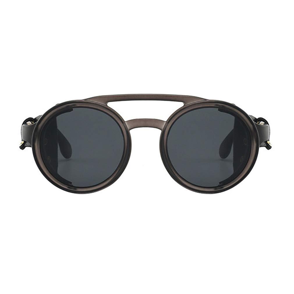 Yying Retro Round Steampunk Sunglasses Side Shield Occhiali Gothic Occhiali da sole Uomo Donna Polarized Occhiali da sole