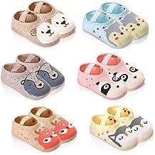 Eocom 6 Pairs Anti-slip Baby Floor Cotton Socks 12-36 Months Toddler Infants Boy/Girls